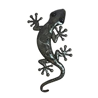 Art Deco Home - Wanddeko Gecko, 38 cm - 13665SG
