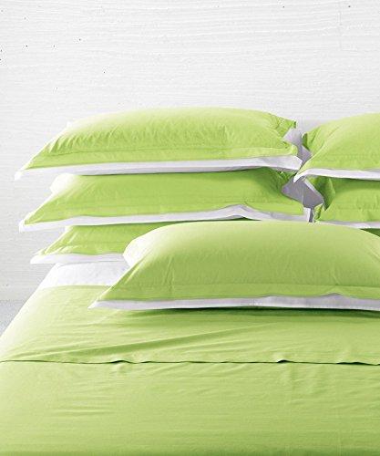 Bettwäsche Vanity (Caleffi Bettwäsche - Vanity Doppelbett aus Reiner Baumwolle cm240x280 Minze)