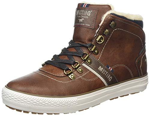 MUSTANG Herren High Top Hohe Sneaker, Braun (Kastanie 301), 43 EU