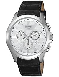 ESPRIT Collection Herren-Armbanduhr Kratos Chronograph Quarz Leder EL101801F01
