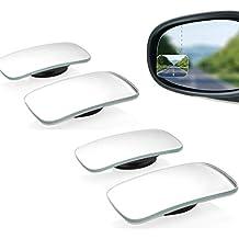 GuDoQi Espejo de Punto Ciego Forma Cuadrada Gran Angular Espejo Retrovisor Coche Punto Ciego Palo Espejo