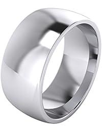 Anillo de boda, para hombres, plata de ley, 9 mm, muy pesado