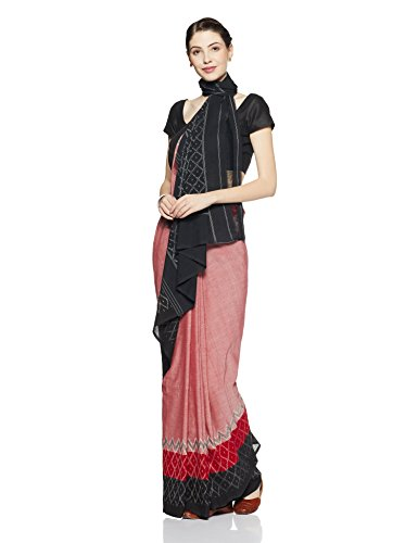 Gocoop Cotton Saree With Blouse Piece (GCSOUCOSAA0204_Red_One Size)