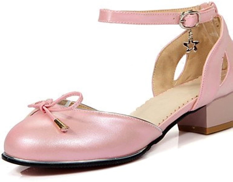 ZQ zapatos de las mujeres de la PU del verano / zapatos de tac¨®n de punta redonda oficina&?carrera / bowknot...
