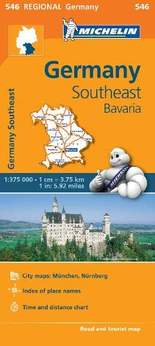 Germany Southeast, Bavaria - Michelin Regional Map 546 (Michelin Regional Maps) (Michelin Maps Deutschland)