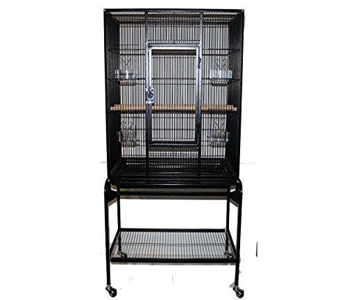 MYPETS Vogelvoliere PREMIUM XL Papageienkäfig Voliere Käfig Vogelkäfig Sittich In-und Outdoor - Einzeln Aufstellbar - Top Ausstattung
