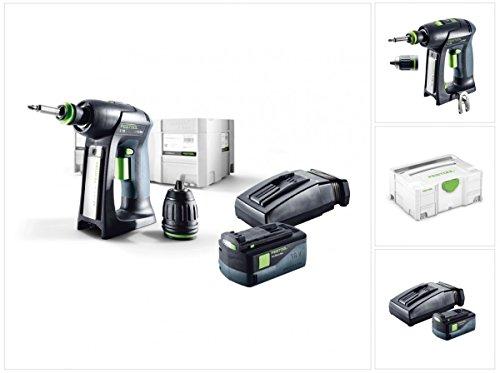 Preisvergleich Produktbild Festool C 18 Li-Basic Starter Akku Bohrschrauber im Systainer mit 1x BP 5,2 Ah Akkupack und TCL 6 Ladegerät