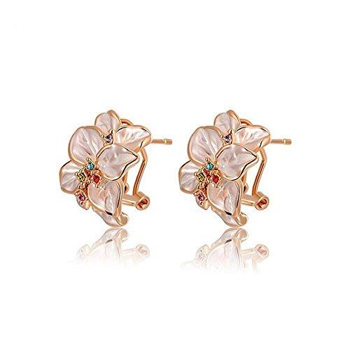 HYHAN Donna orecchini semplice alla moda atmosferica Petalo Clip Orecchio , rose gold