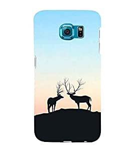 Deers on a Hill 3D Hard Polycarbonate Designer Back Case Cover for Samsung Galaxy S6 Edge+ :: Samsung Galaxy S6 Edge Plus :: Samsung Galaxy S6 Edge+ G928G :: Samsung Galaxy S6 Edge+ G928F G928T G928A G928I