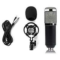 Topker BM 800 Computer Microphone 3.5mm Wired Condenser Sound Microphone with Shock Mount for Recording Braodcasting