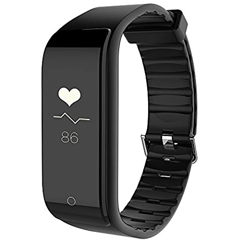 Fitness Tracker Heart Rate Monitor RIVERSONG Smart Bracelet Bluetooth 4.0 Sleep tracker Step Distance Calorie Counter Pedometer Sport Activity Tracker Smart Watch for iPhone Android Smartphones