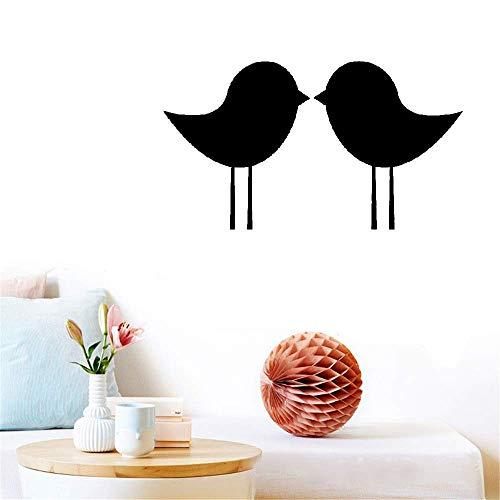 daufkleber Schlafzimmer Einfache Umriss personalisierte Farben Big Size Kissing Birds für Schlafzimmer Kopfteil ()