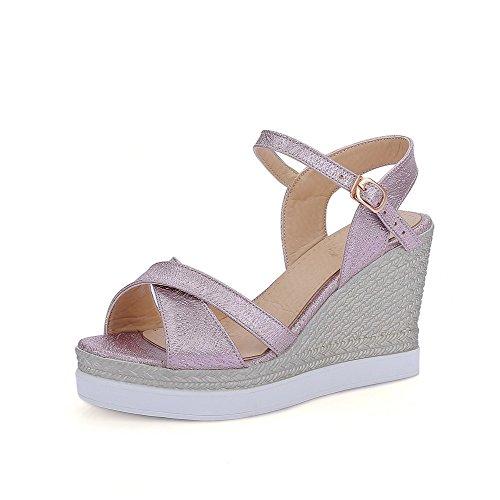 voguezone009-femme-matiere-souple-boucle-ouverture-dorteil-a-talon-haut-sandales-violet-38
