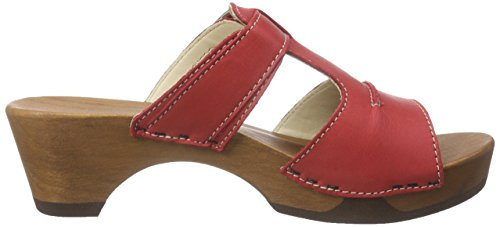 Woody Kerstin, Mules Femme rouge (Rot)