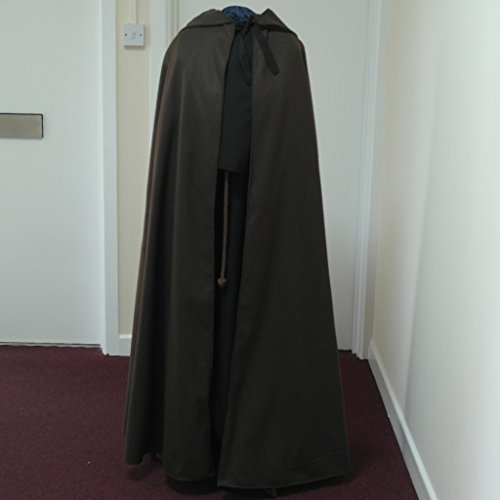 Kostüm Halloween Arwen - Black Polyester Adult Cloak - Legoslas/Frodo/Lord Of The Rings/LOTR/Pirate/Arwen/Pagan/Halloween