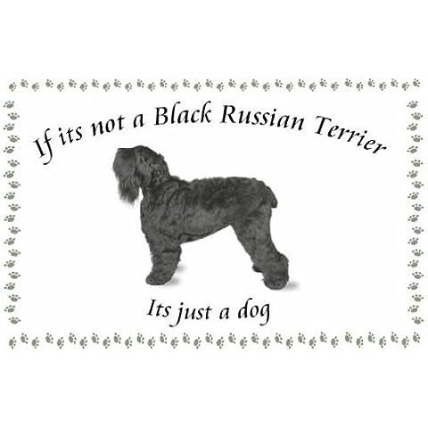 Ruso negro Terrier - perro flashsellerz Llaveros - si no es