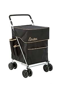 Donkee Einkaufstasche schwarz & beige (Unisex), die Große Einkaufstrolley hergestellt von sholley Trolley
