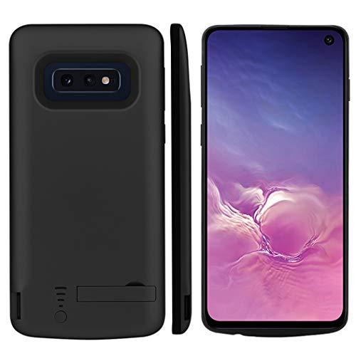 CaseFirst Samsung Galaxy S10e Akku Hülle, 5000mAh Ersatz Akkucase Externe Batterie Akkuhülle Backup Powerbank Schutzhülle Ladegerät Battery Case für Samsung Galaxy S10e (Schwarz)