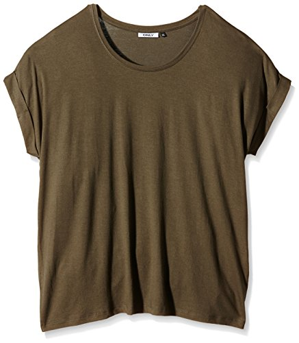 ONLY Damen T-Shirt Onlmoster S/S Top Noos Jrs Grau (Tarmac)