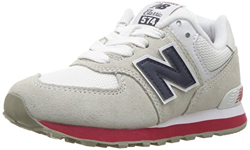 New Balance Boys' 574v1 Essential Sneaker, Nimbus Cloud/Navy, 13 W US Little Kid (New Balance-13w)