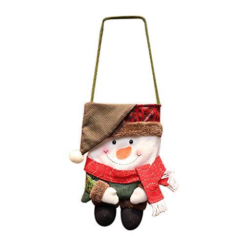 Likecrazy Kreative Weihnachten Taschen Süßigkeitstasche Candy Gift Weihnachtsgeschenktüten Weihnachtsbaum Deko Anhänger Plaid Weihnachten Weihnachtsgeschenktüte (rot,one size)