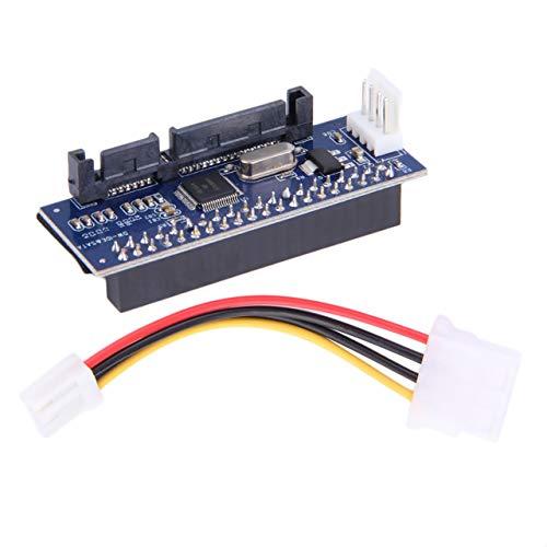 Monllack 3.5 HDD IDE/PATA-zu-SATA-Konverter Add-On-Kartenadapter für 40-polige IDE-Festplattenlaufwerke, DVD-Brenner für SATA-7-Pin-Datensysteme - Pata Ata-100