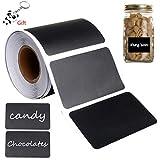 Gagawin Étiquettes Ardoise Autocollantes, 150 Pièces Stickers Cuisine Noir Étiquettes Imperméable Kitchen Label Amovible pour Pots et Bocaux des Epices Confiture