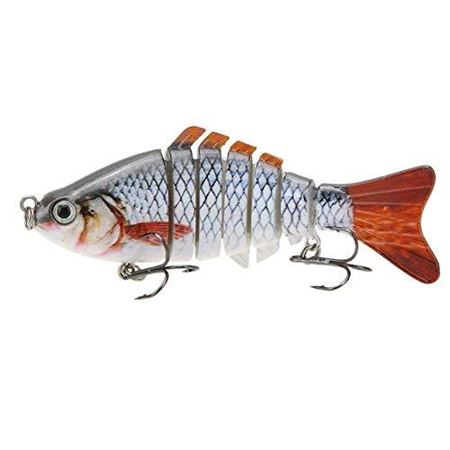 Ouken Simulation Fischköder Kunststoff Naturgetreue Künstliche Fisch-Köder Crankbait Angeln Werkzeug