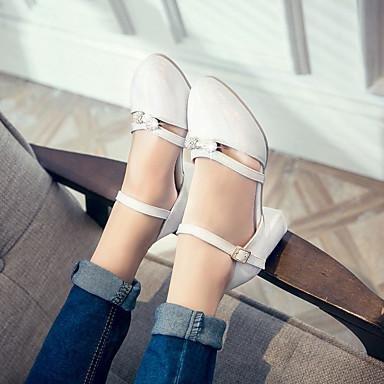 LvYuan Sandalen-Büro Kleid Lässig-Kunstleder-Blockabsatz-Komfort-Blau Lila Weiß Beige White