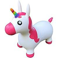 EinhornLiebe Hüpfpferd Hüpftier Einhorn weiß/pink inkl. Luftpumpe