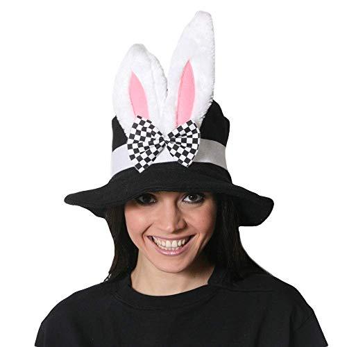 SeeMeInThat Erwachsene Hut Hasenohren Hutmacher Kostüm Alice im Wunderland Teeparty Junggesellinnenabschied Ostern (Alice Im Wunderland Kostüm Haustier)