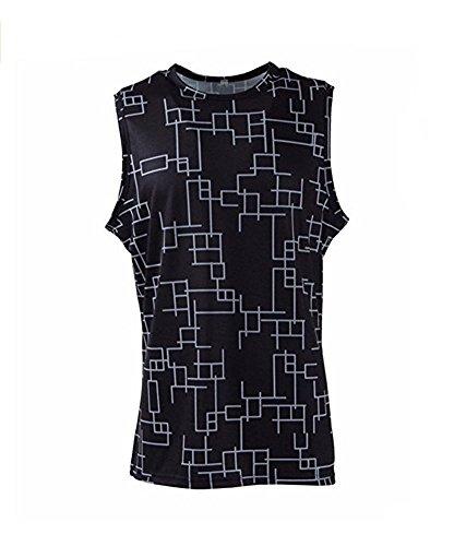 ompto Argentum Schwarz T-Shirts Sleeveless Cosplay Kostüm (XS, Schwarz) ()
