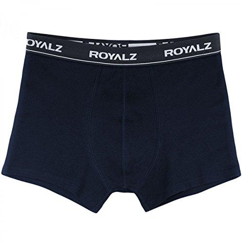 ROYALZ Unterhosen Herren Boxershorts 10er Set klassisch für Sport und Freizeit, 10er Pack (95% Baumwolle / 5% Elasthan) 10 x Dunkelblau