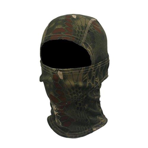 Gap Herren Grün (Fulltime (TM) Herren Camouflage Armee Radfahren Motorrad Gap Sturmhaube Hüte Full Face Maske grün grün Einheitsgröße)