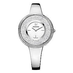 Idea Regalo - Swarovski Orologio Crystalline Pure, Bracciale In Metallo, Cristallo Bianco, Acciaio Inox, da Donna