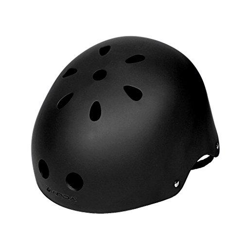 Magideal casco di sicurezza per uomo donne bambini alpinismo arrampicata sport all'aperto protezione da testa - nero, l