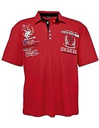 """Lavecchia """"Classic Sport"""" Polo Tee Shirt - pour homme - grande taille - Coton - rouge de 3XL à 8XL"""