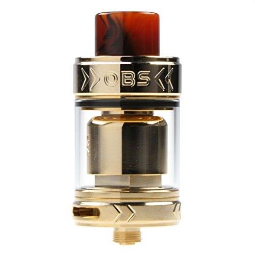 Riccardo Crius II RTA Clearomizer, Tankvolumen 3.5 ml, Durchmesser 25 mm, Selbstwickler, OBS Verdampfer für e-Zigarette, gold
