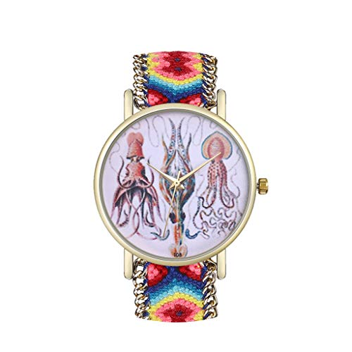 Disc Gürtel Aus Wolle Table Damen Exquisite Uhr Mit Quarz Dauerhaft Lässiger Haken luxuriös und Edel Für Jeden Anlass Geeignet und Kratzfest Ausverkauf ()