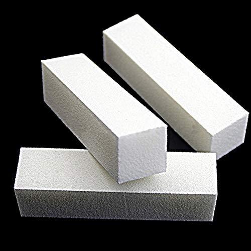 Skyeye Dateien Schleifen Maniküre Werkzeug Nagel Puffer File Block (White X3pcs) -