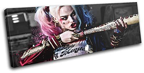 (Bold Bloc Design - Suicide Squad Harley Quinn Movie Greats 120x40cm Single Leinwand Kunstdruck Box gerahmte Bild Wand hangen - Bereit zum Aufhangen - Canvas Art Print RC-7866(00B)-SG31-LO-B)