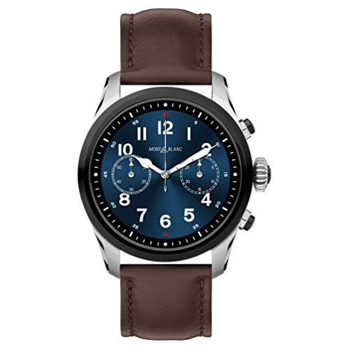 2 - Reloj Montblanc Summit 2 Smartwatch 119439 Bicolor Acero y Piel marrón