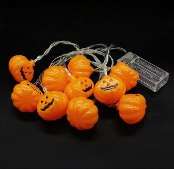 Halloween Lichterkette kleine Kürbisse