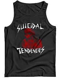 LaMAGLIERIA Camiseta de Tirantes Hombre Suicidal Tendencies St02-100% Algodòn