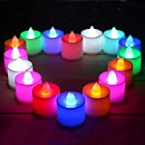 Kala Decorators 12 Pcs 7-Color Changing Amazing Quality Color Changing Flameless Tea Light Led Candle For Birthday,Wedding Candle (Multicolor)
