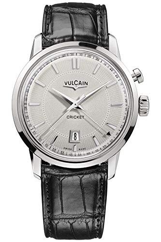 Vulcain Cricket 50s Presidents Herren Uhr analog Handaufzugwerk mit Leder Armband 110151G70.BAL101