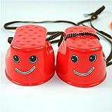 Delicacydex Lustige Plastikkinder scherzt im Freienspaß-Weg-Stelzensprung-Lächeln-Gesichts-Muster-Sport-Balance-Trainings-Spielzeug