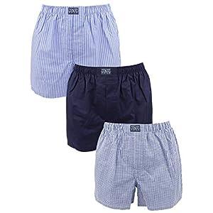 41mXTXe9G6L. SS300  - Polo Ralph Lauren Hombre 3 Tejido de Rayas y Boxeadores A Cuadros clásico de algodón, Azul