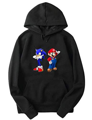 Super Mario Hoodie - Lose Casual Super Mario Pullover Kinder,Mario