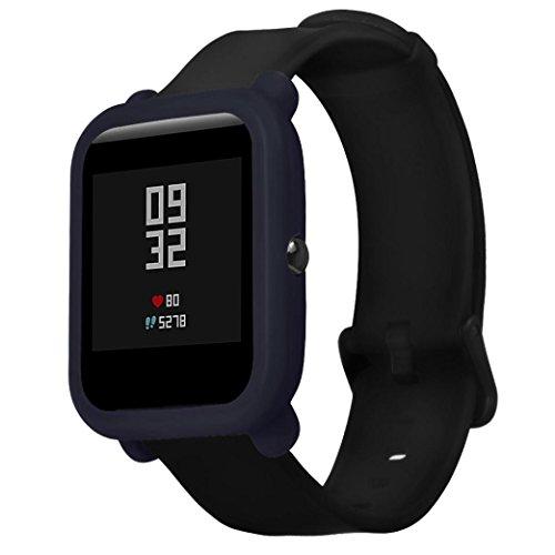 99native Weicher TPU-Schutz-Silikon-volle Fall-Abdeckung für Huami Amazfit Bip-Jugend-Uhr (Marine) (Jugend-rahmen)
